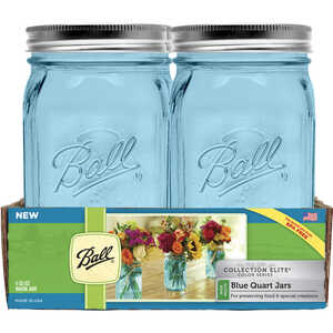 Ball  Collection Elite  Wide Mouth  Canning Jar  1 qt. 4 pk