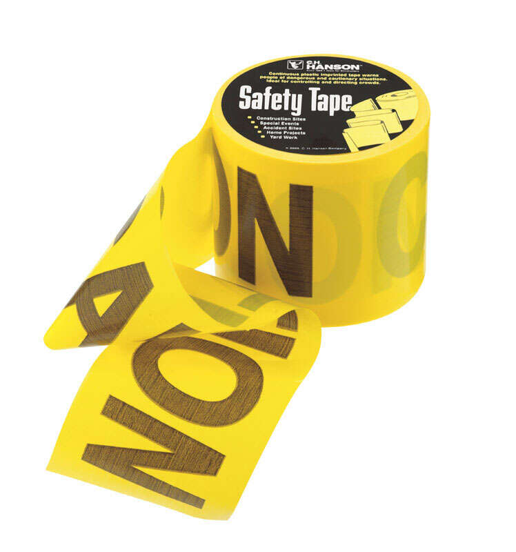 C.H. Hanson  3 in. W x 3 in. W x 200 ft. L Caution  Barricade Tape  Yellow  Plastic