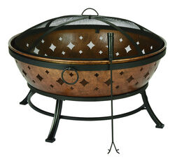 Living Accents  Noma  Wood  Fire Pit  22.4 in. H x 35.8 in. W x 22 in. D Steel