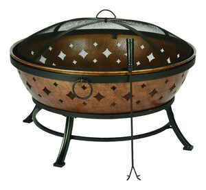 Living Accents  Noma  Wood  Fire Pit  22.4 in. H x 35.8 in. W Steel