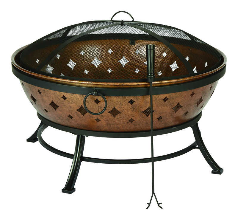 Living Accents  Noma  Fire Pit  22.4 in. H x 35.8 in. W Steel