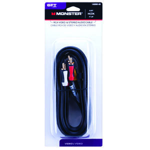 Monster Cable  Just Hook It Up  6 ft. L Video & Stereo Audio Cable  RCA