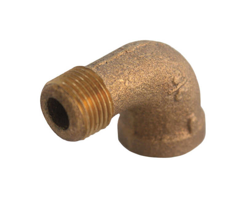JMF  3/4 in. Dia. x 3/4 in. Dia. FPT To MPT To Compression  Red Brass  Street Elbow