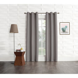 No. 918 Webster Gray Curtains 80 in. W x 84 in. L