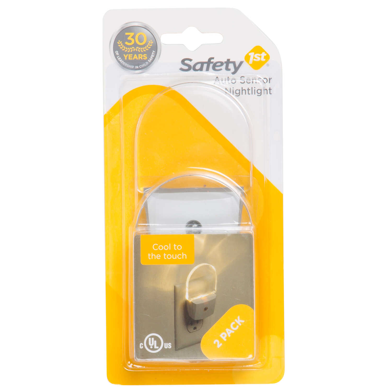 Safety 1st  White  Plastic  Led Nightlight  2 pk