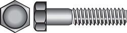 Hillman  5/16 in. Dia. x 6 in. L Zinc Plated  Steel  Hex Bolt  50 pk