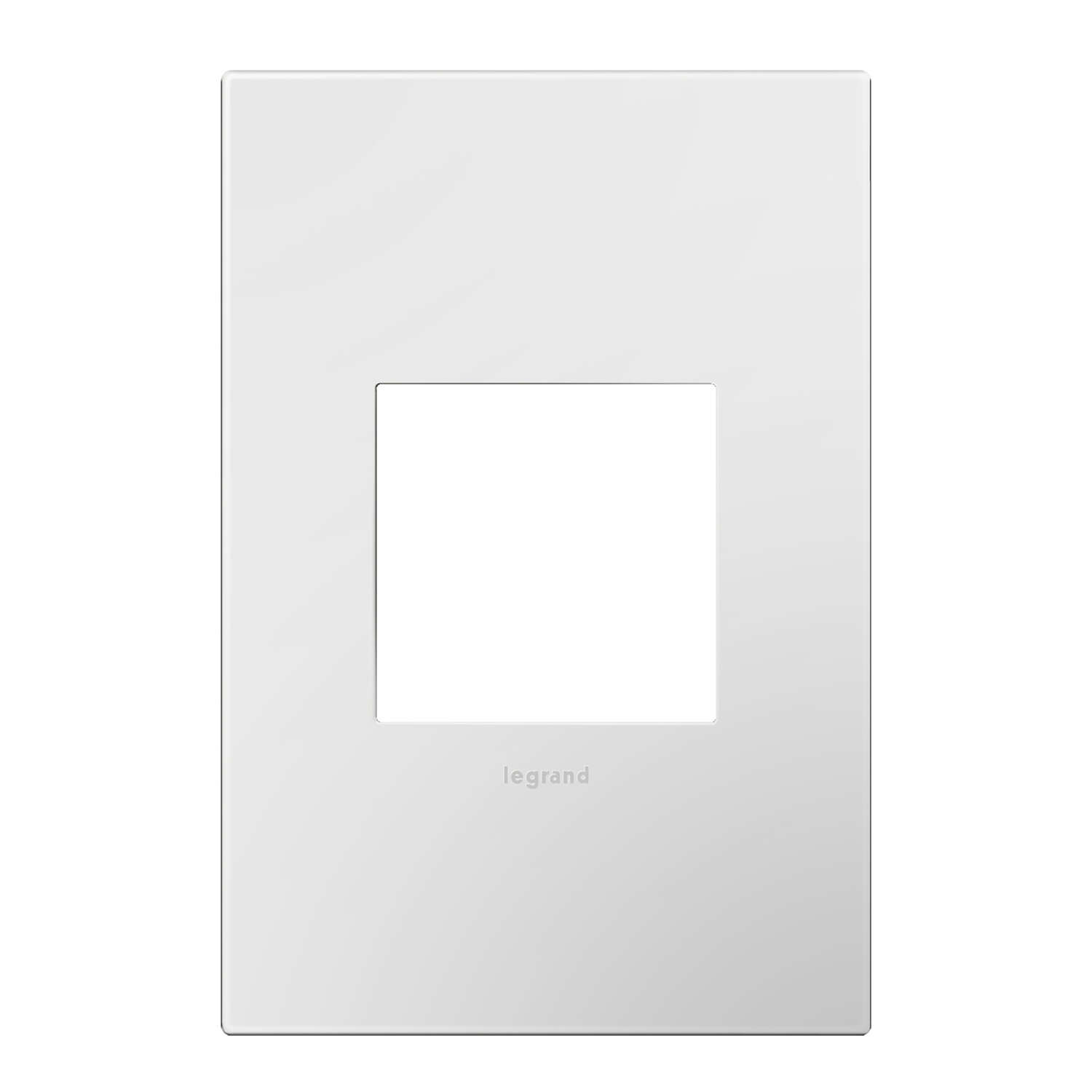 Legrand  Adorne  White  1 gang Thermoplastic Nylon  GFCI/Rocker  Wall Plate  1 pk
