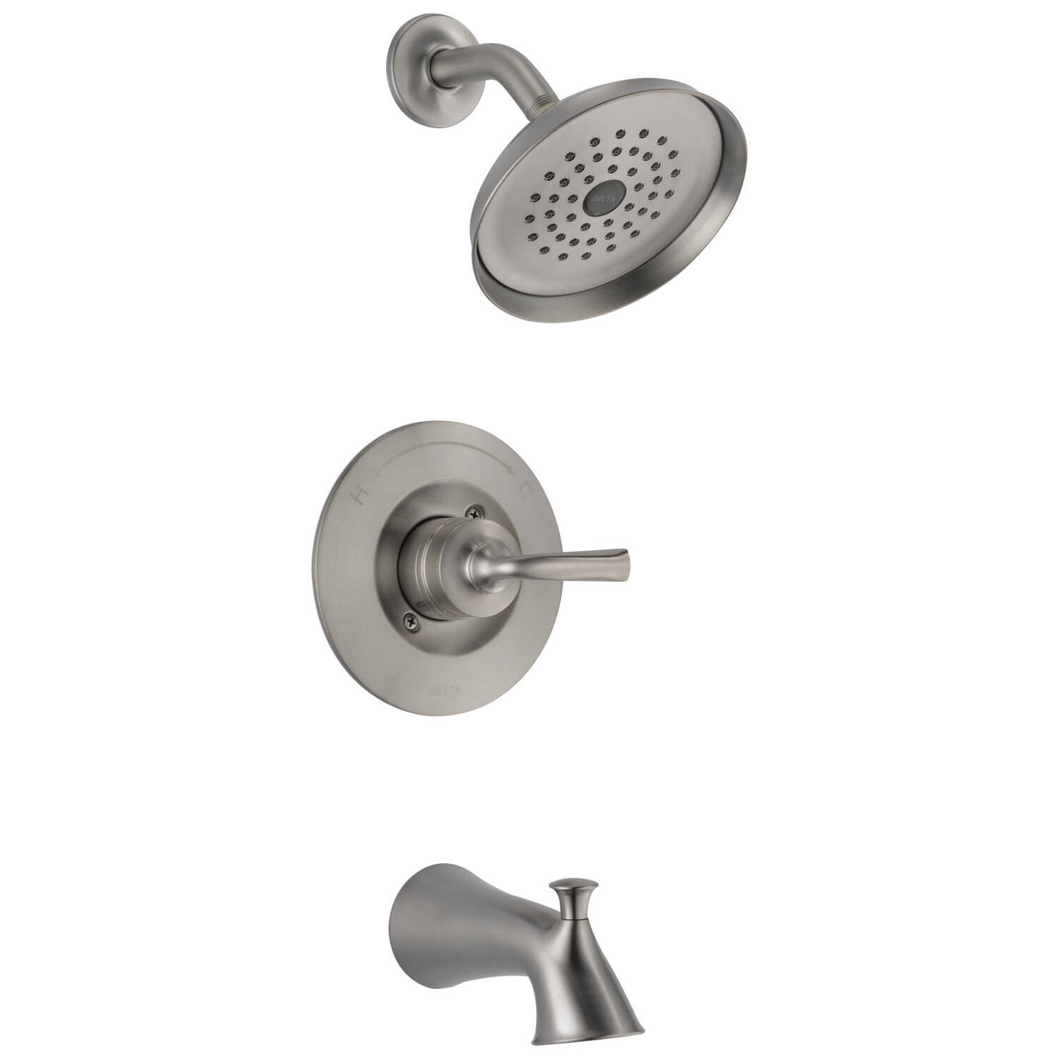 Delta  Monitor  Lorain  1-Handle  Stainless Steel  Tub and Shower Faucet