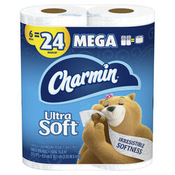 Charmin  Ultra Soft  Toilet Paper  6 roll 264 sheet