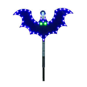 Santa's Best  LED Bat Stake  Lighted Halloween Decoration