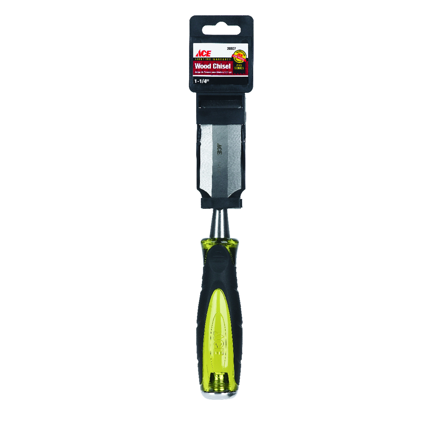Ace  Pro Series  1-1/4  W Wood Chisel  1 pc. High Carbon Steel