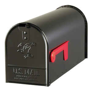 Gibraltar Mailboxes  Metal  Post Mounted  8-3/4 in. H x 8-3/4 in. H x 20 in. L x 6-7/8 in. W Mailbox
