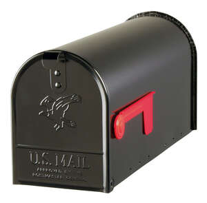 Gibraltar Mailboxes  Elite  Post Mounted  Black  Mailbox  6-7/8 in. W x 8-3/4 in. H x 20 in. L x 8-3