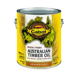 Cabot  Transparent  19457 Amberwood  Oil-Based  Natural Oil/Waterborne Hybrid  Australian Timber Oil