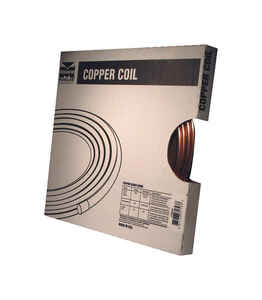 Mueller  1/4  Dia. x 10 ft. L Refer  Copper Refrigeration Tubing