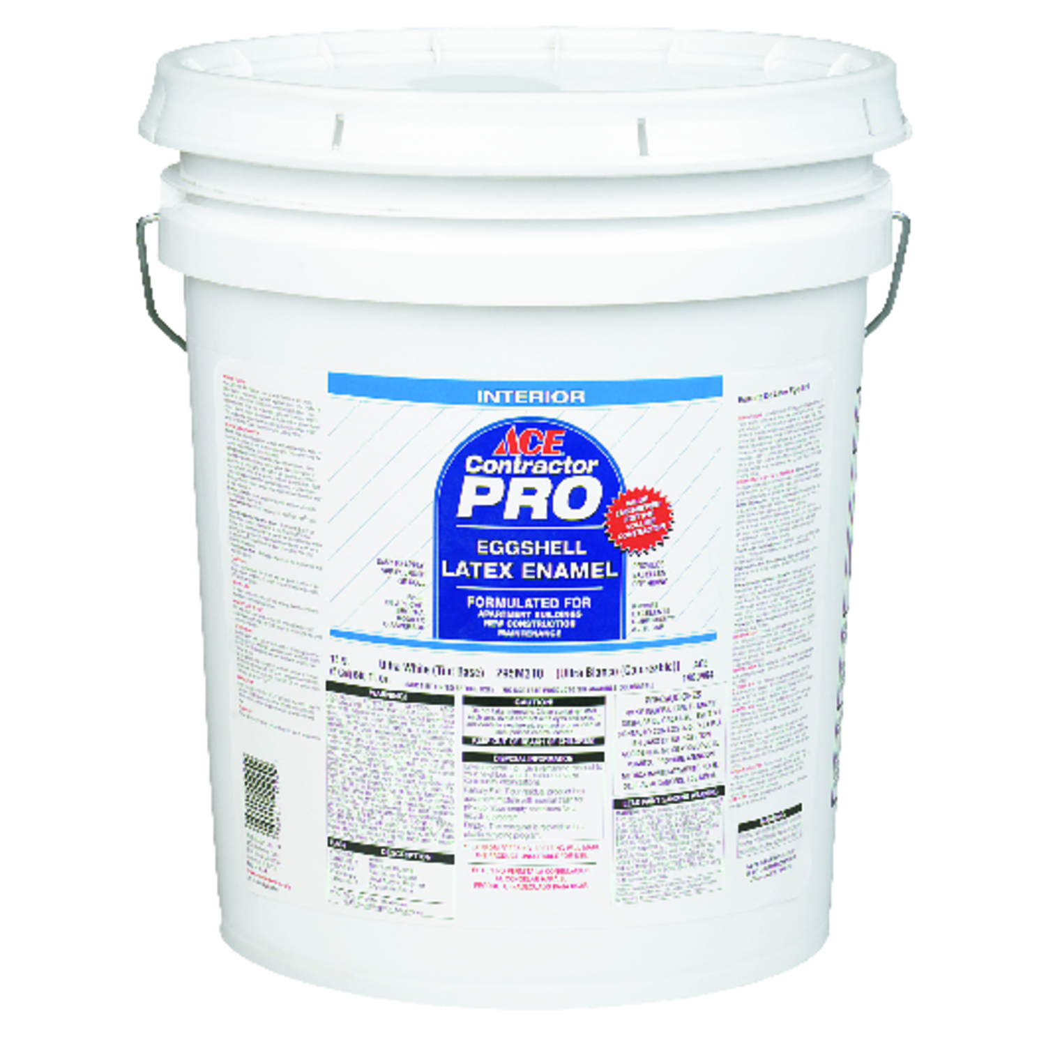 Ace  Contractor Pro  White  Eggshell  Acylic Latex  5 gal. Wall Paint