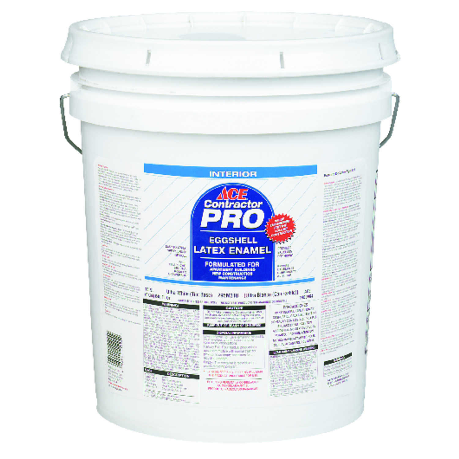 Ace  Contractor Pro  Eggshell  White  Acrylic Latex  Wall Paint  5 gal.