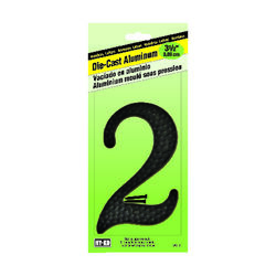 Hy-Ko  3-1/2 in. Black  Aluminum  Nail-On  Number  2  1 pc.