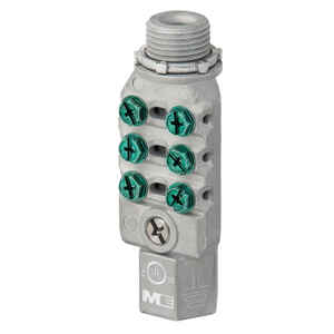 Madison Electric  1/2 in. Die-Cast Zinc  Intersystem Bond Bridge  1 pk