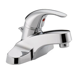 Peerless  Cartridge  Chrome  Single Handle  Lavatory Faucet  4 in.