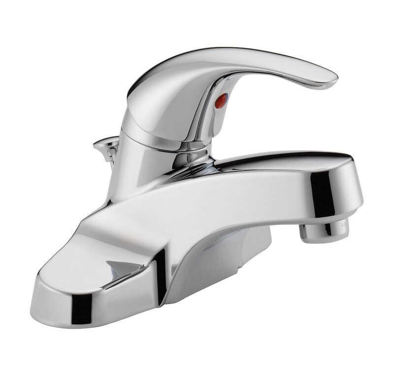 peerless cartridge single handle lavatory faucet 4 in chrome - Single Handle Bathroom Faucet