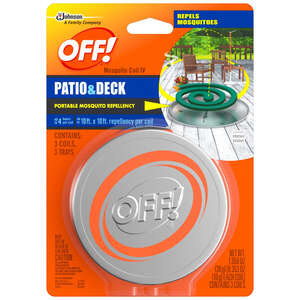 OFF!  Coil  Candle with Holder  1.06 oz. For Mosquitoes