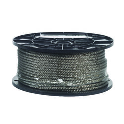 Campbell Chain  Electro-Polish  Stainless Steel  3/16 in. Dia. x 250 ft. L Cable