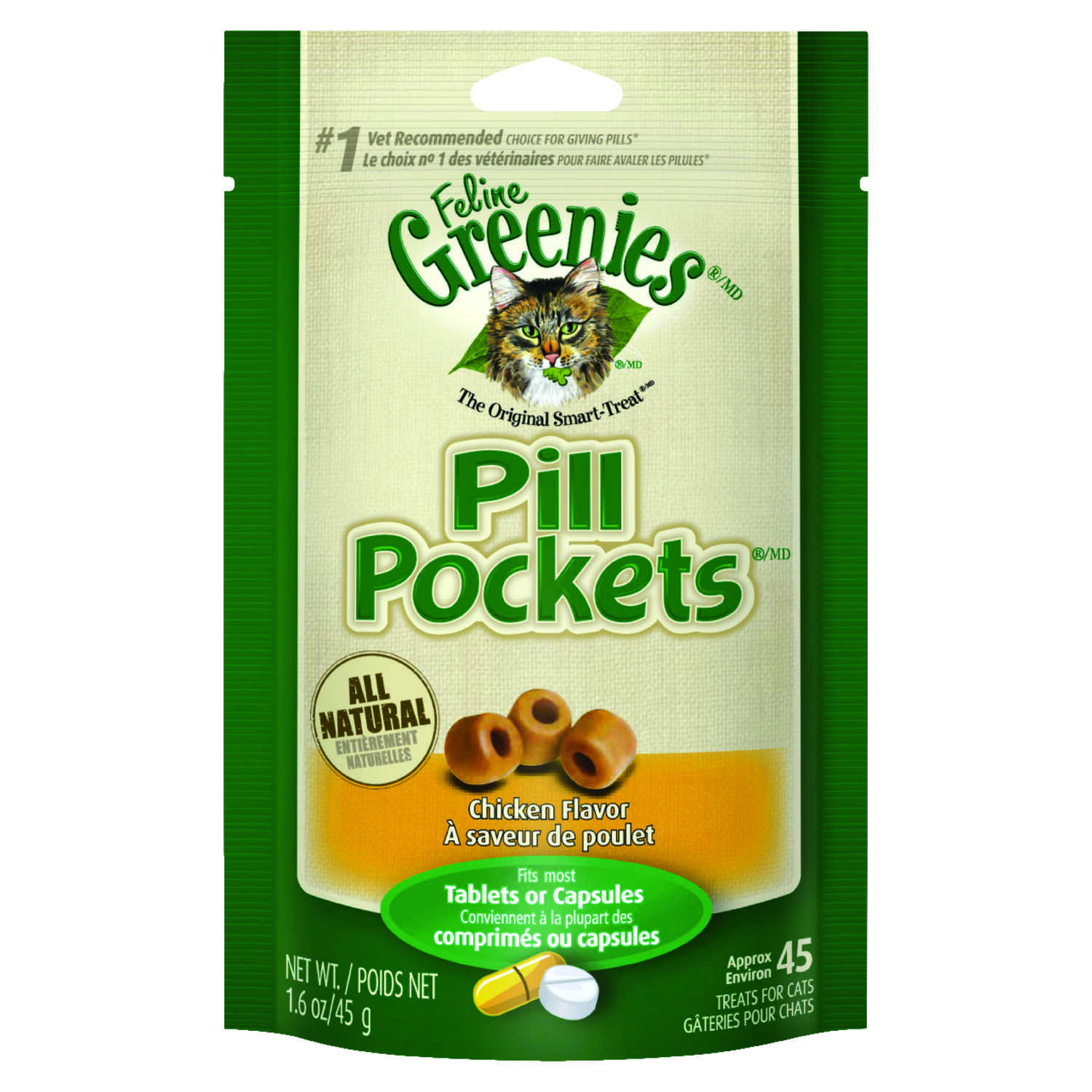 Greenies  Pill Pockets  1.6 oz. Chicken  Cat  Cat Food