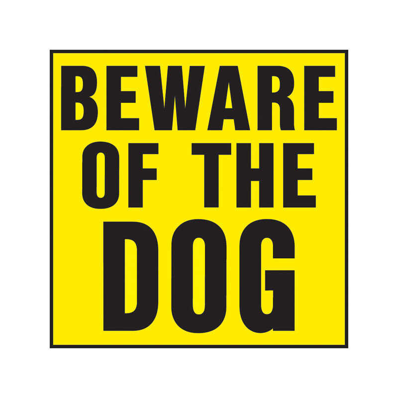 Hy-Ko  English  Beware of Dog  Sign  Plastic  11 in. H x 11 in. W