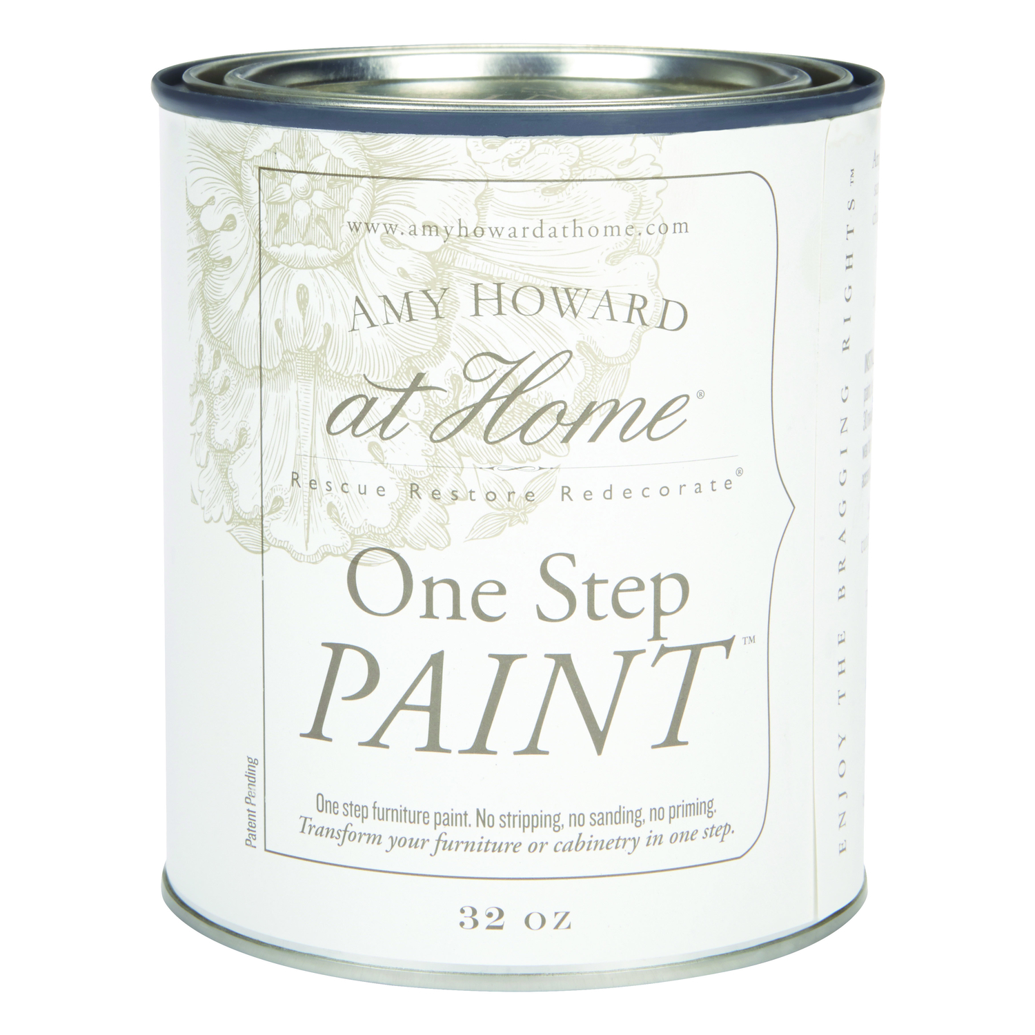 Amy Howard at Home  Brooks Grey  Latex  One Step Furniture Paint  32 oz.