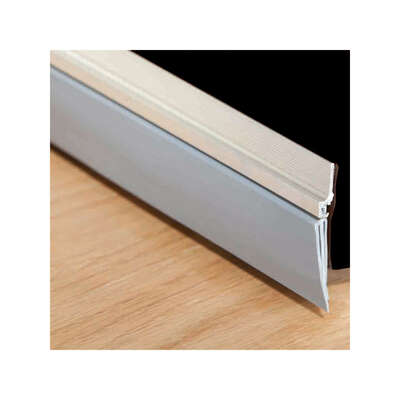 M-D  Cinch  Silver  Aluminum/Vinyl  Weatherstrip  For Doors 36 in. L x 1/4 in.