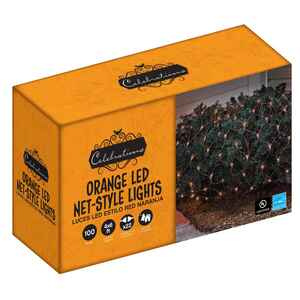 Celebrations  LED Net  Lighted Orange  Halloween Lights  6 ft. L 1 pk