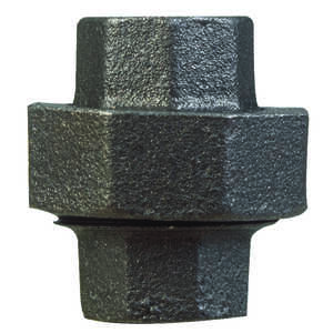 B & K  1-1/4 in. FPT   x 1-1/4 in. Dia. FPT  Black  Malleable Iron  Union