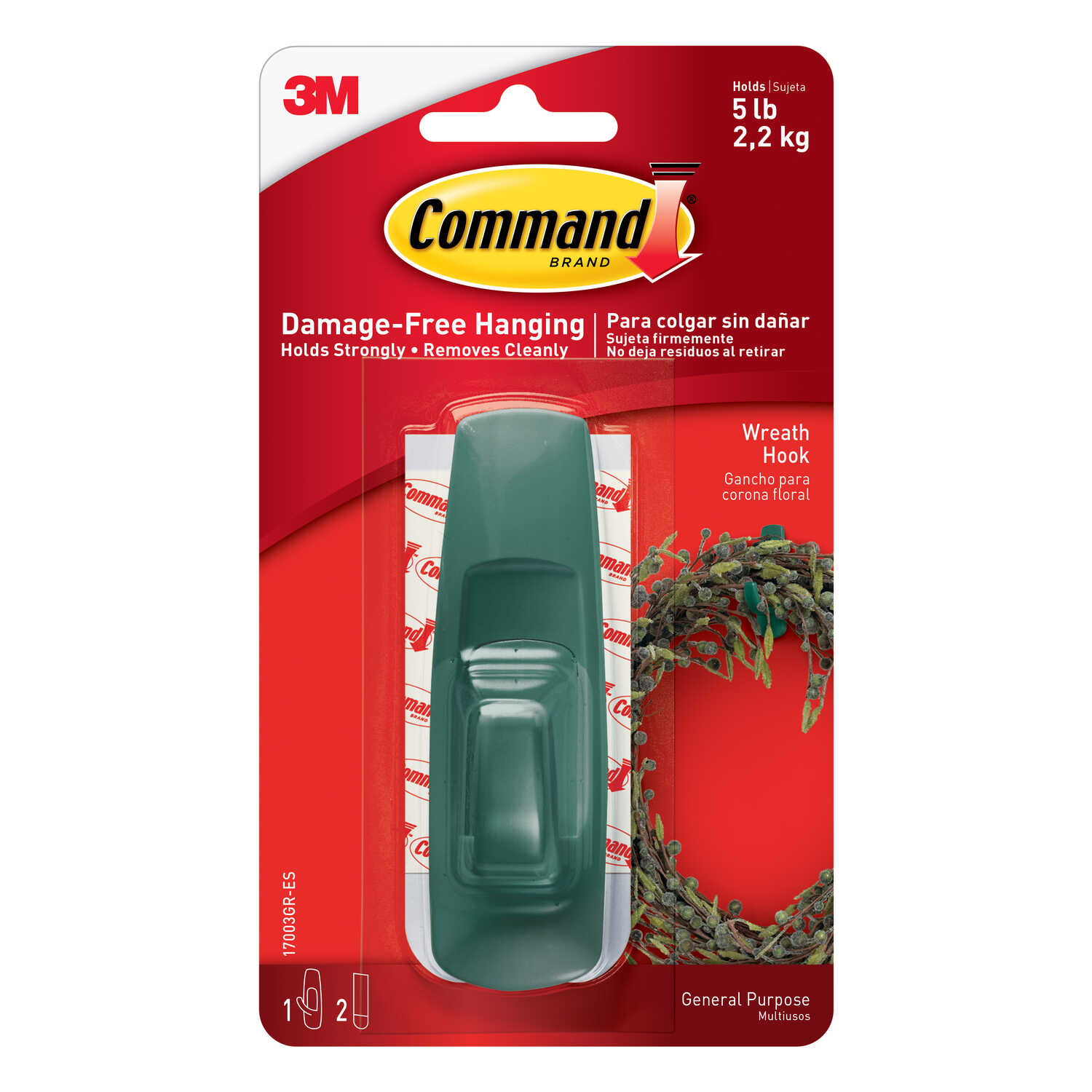 3M  Command  Large  Plastic  Hook  3-7/8 in. L 1 pk