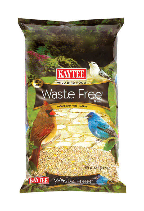 Kaytee  Waste Free  Assorted Species  Wild Bird Food  Sunflower Seeds  5 lb.