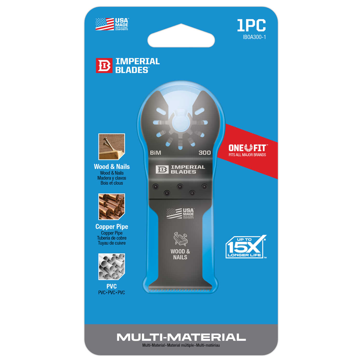 Imperial Blades  OneFit  1-1/4 in. Dia. Bi-Metal  Oscillating Saw Blade  1 pk