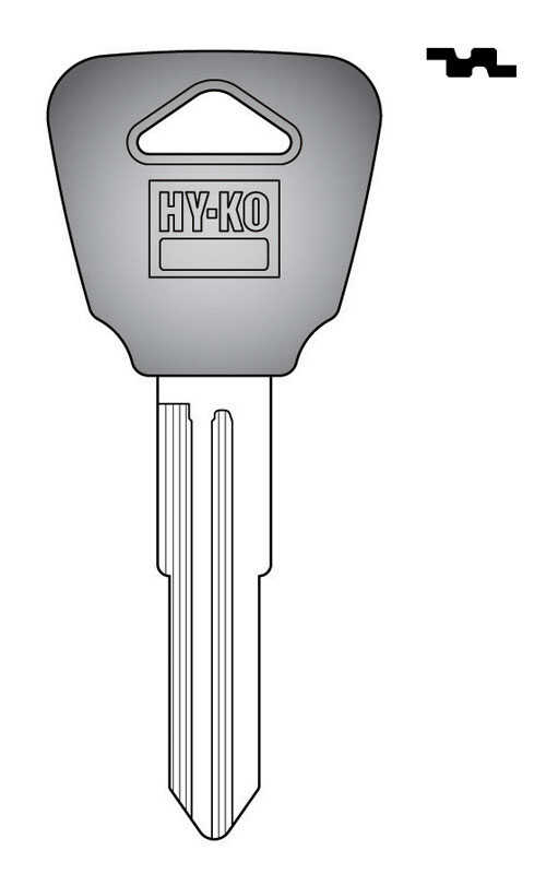 Hy-Ko  Automotive  Key Blank  EZ# HD96P  Double sided For Fits 1992-1994 Ignitions