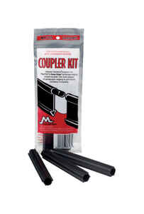 Master Mark  1 in. L x 4 in. H Plastic  Edging Coupler Kit  Black