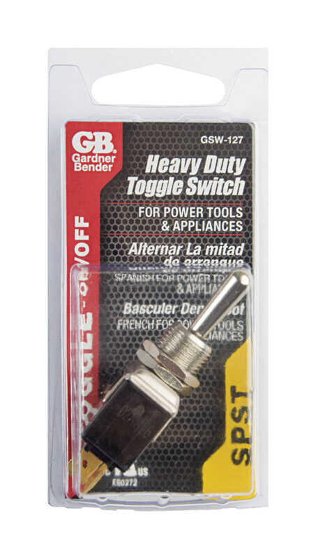 Gardner Bender  Toggle  Toggle Tab Switch  Silver  1 pk