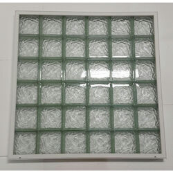 Clear Choice  48 in. H x 48 in. W x 3 in. D Ice  Window