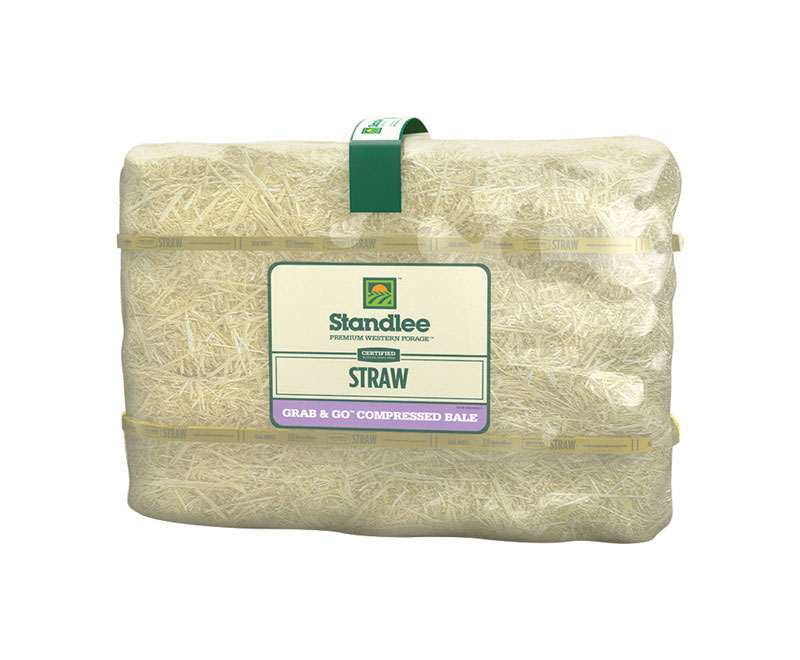 Standlee Grab & Go 50 lb. Straw Bale for Horse