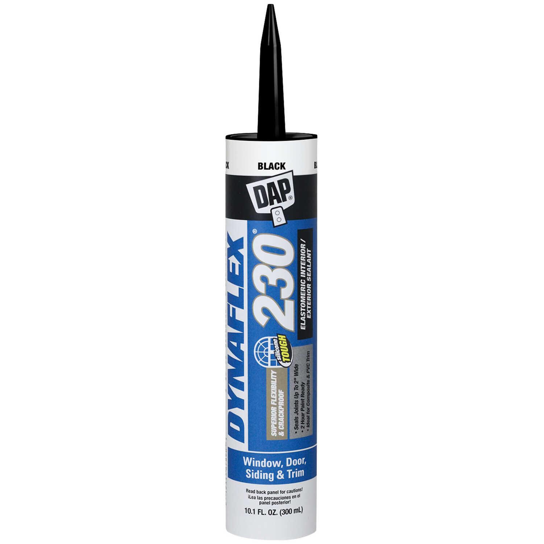 DAP DYNAFLEX 230 Black Silicone Door, Trim and Window Sealant 10 1