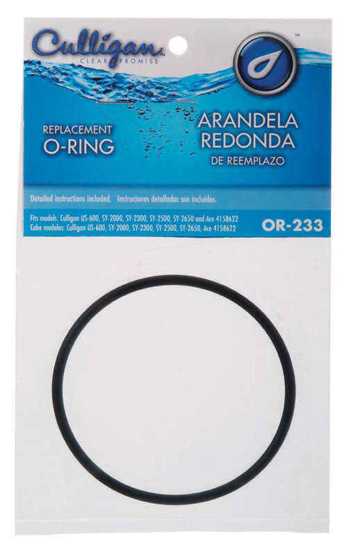 Culligan  2.87 in. Dia. Rubber  O-Ring  1