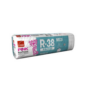 Owens Corning  16 in. W x 48  L 38  Kraft Faced  Insulation  Batt  42.67 sq. ft.
