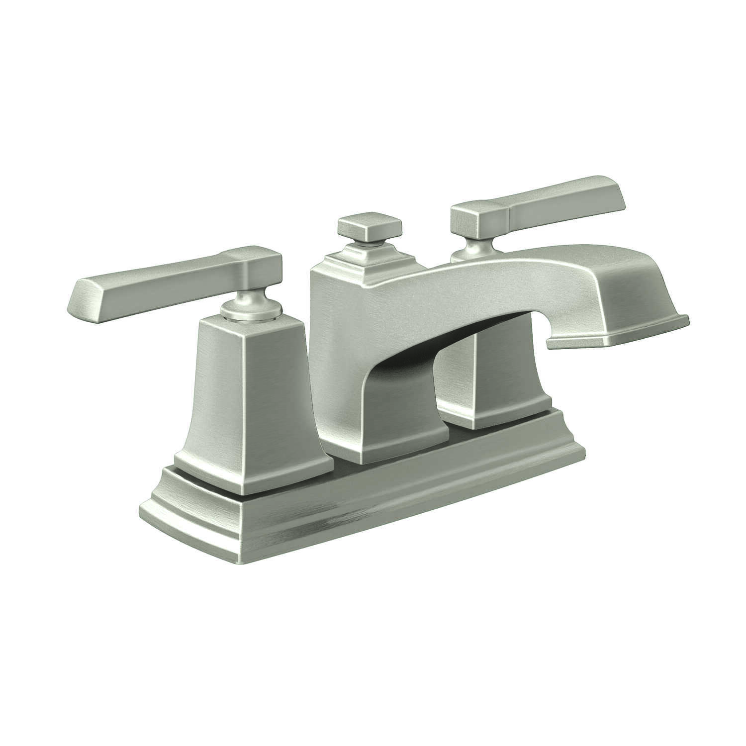 Moen  Boardwalk  Brushed Nickel  Two Handle  Lavatory Faucet  4 Centerset in.