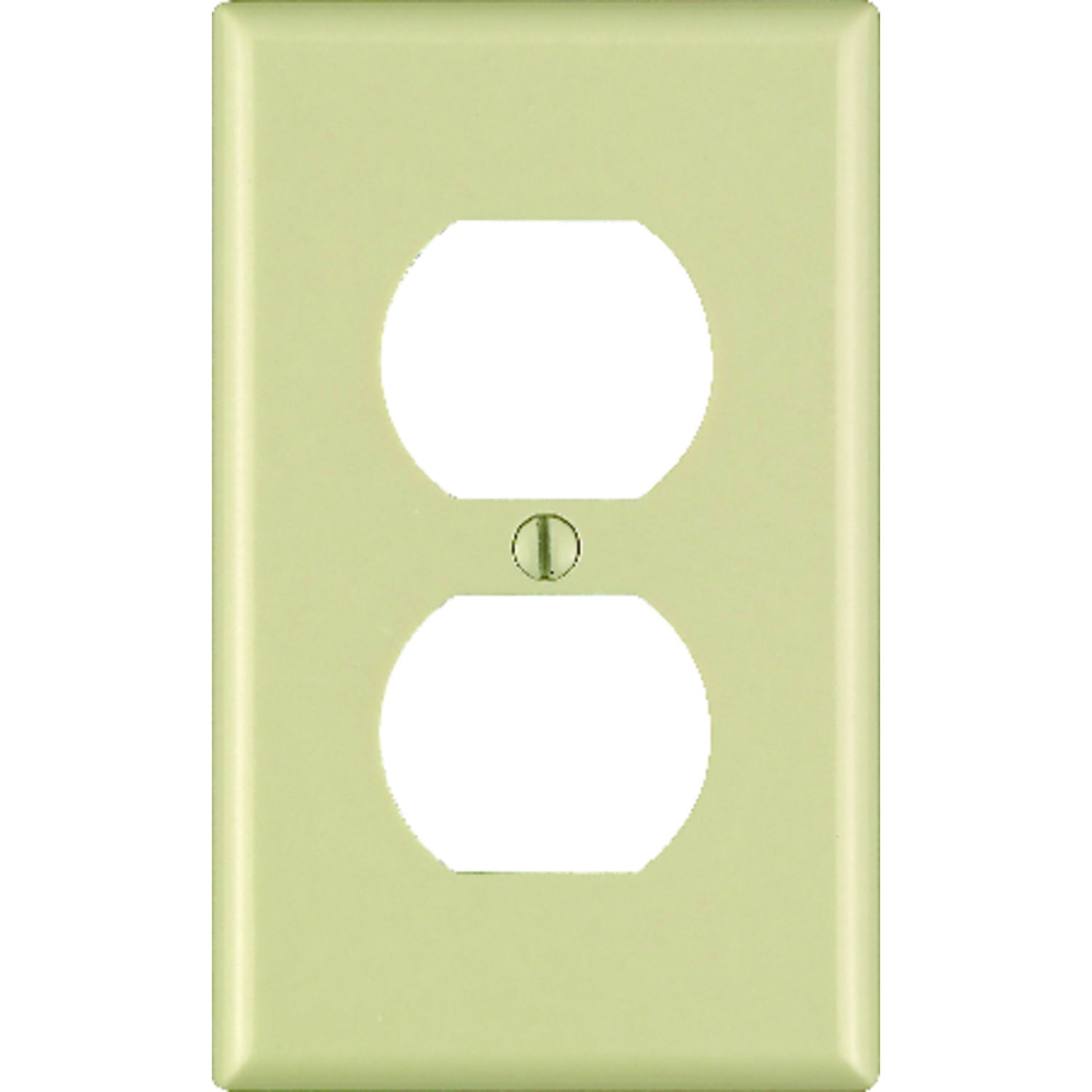 Leviton  Ivory  1 gang Duplex Outlet  Wall Plate  1 pk Plastic