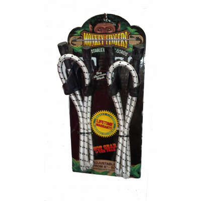 Monkey Fingers White Adjustable Bungee Cord 60 In L X 3 8 In 15