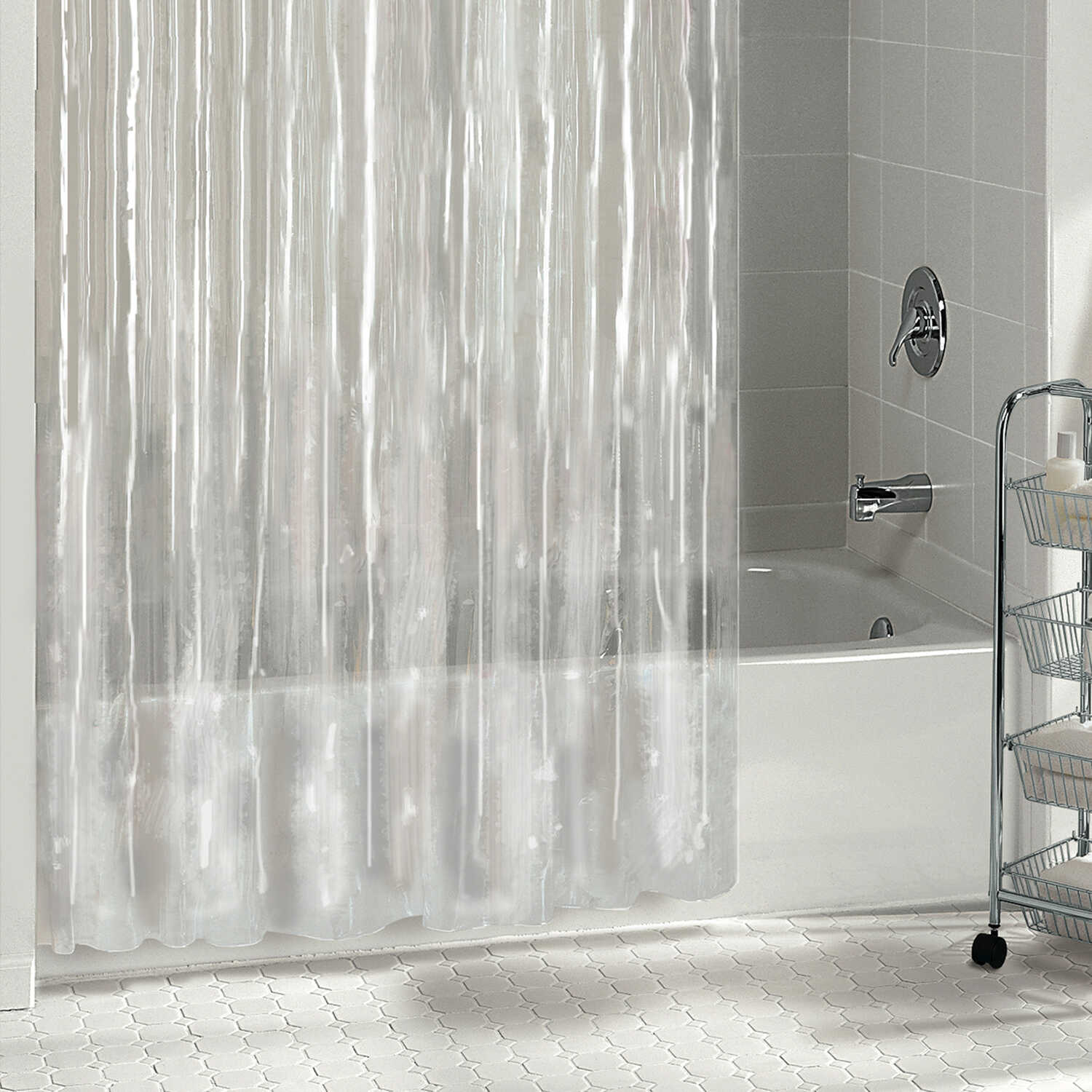 W Clear Shower Curtain Liner Solid