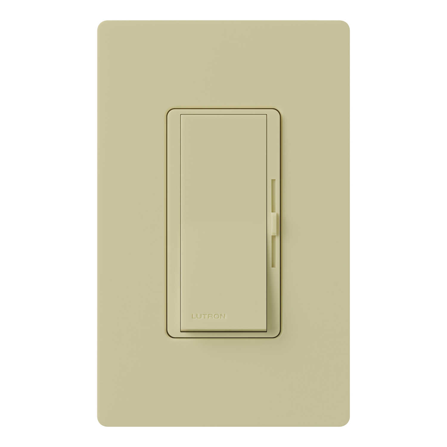 Lutron  Diva  600 watts Slide  Dimmer Switch  1  Ivory