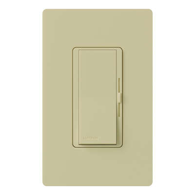 Lutron  Diva  Ivory  600 watts Slide  Dimmer Switch  1 pk